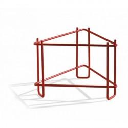Ständer für abfüllbehälter 50 kg, rot lackiert