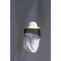 Runder schutzschleier aus netz, mit hut und armausschnitte aus cotone