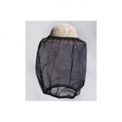 Imker-schutzschleier aus schwarzem tüll, ohne hut