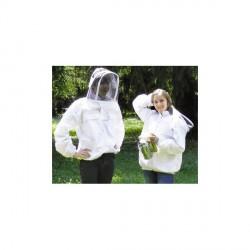 """Imker-weste """"astronauta"""", weiß, 4 taschen, mit glasfaser-schutzmaske"""